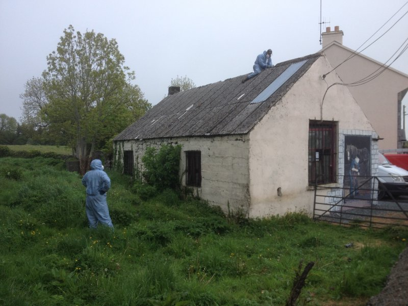 Removal of asbestos roof