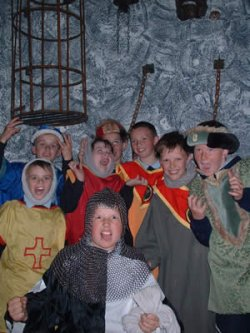 School tour in the medieval dungeon