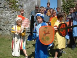 Medieval Costumes for a school tour in the Athenry Heritage Centre