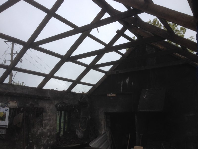 Removed roof