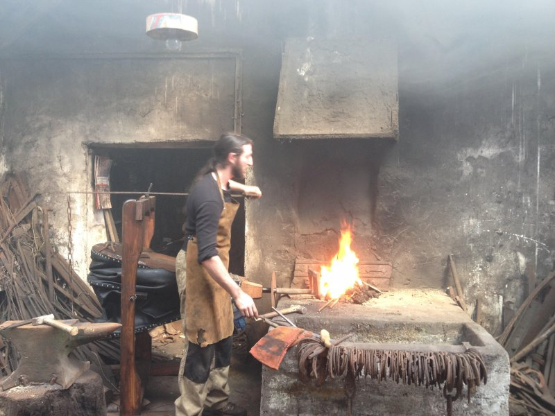 Blacksmithing in Madden's Forge